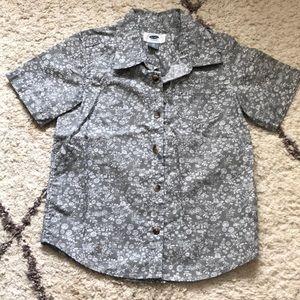 Boys button up short sleeve shirt